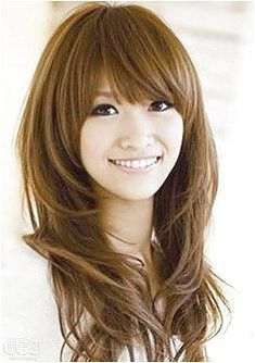 nice cute long hairstyles with bangs and layers for oval