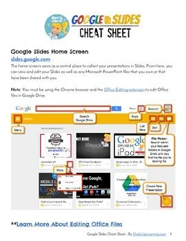 google slides cheat sheet for teachers and students this handy how