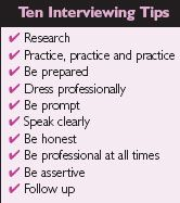 interviewing advice