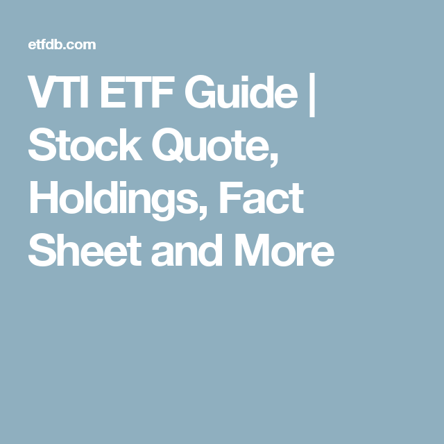 Etf Analysis P E Below 25 Stock Quotes Fact Sheet Stock Market