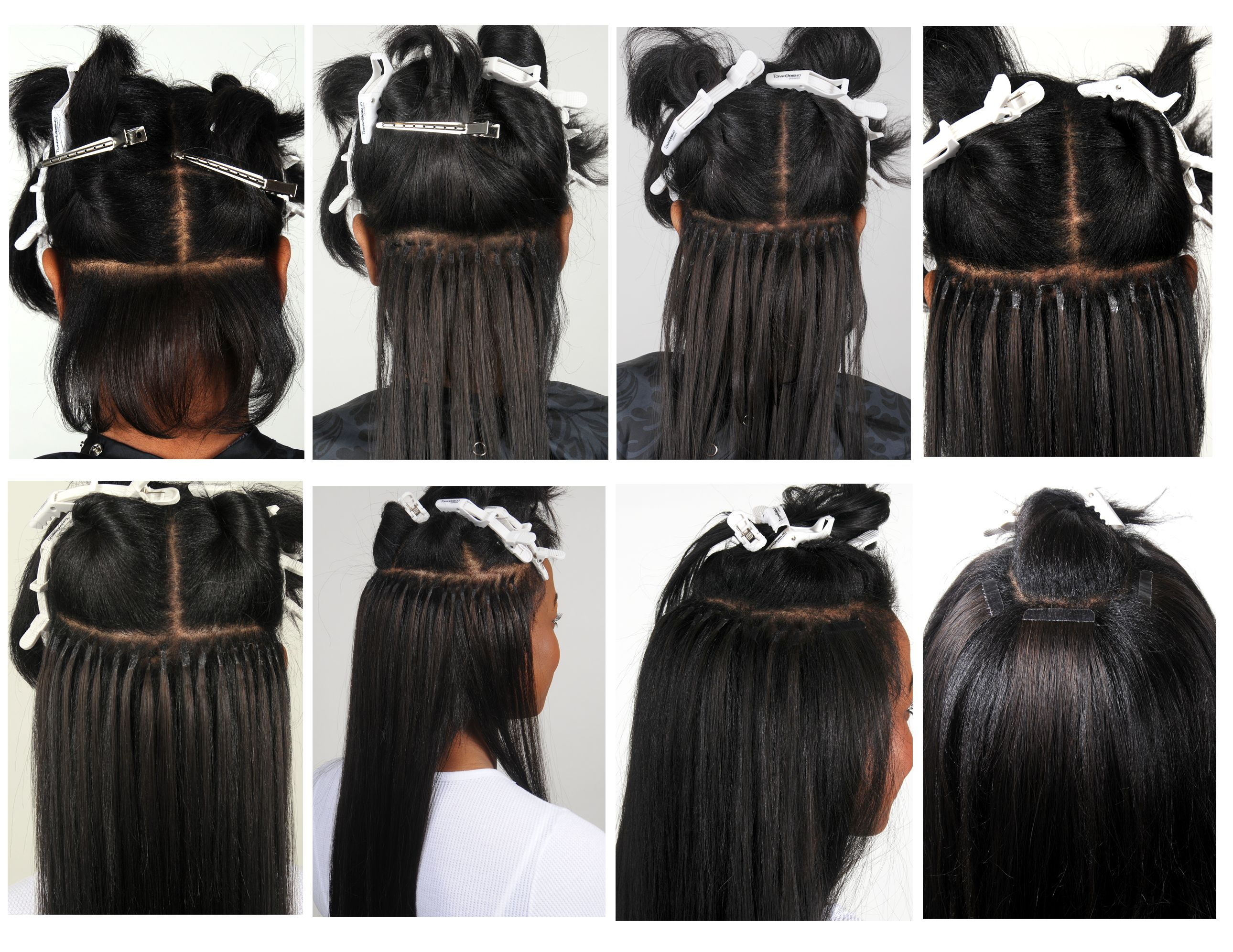 Placement Of Tape Hair Extensions Styling Hair Extensions