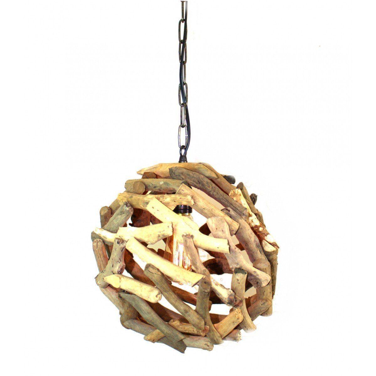 Driftwood ball pendant chandelier ceiling mounted light fixture