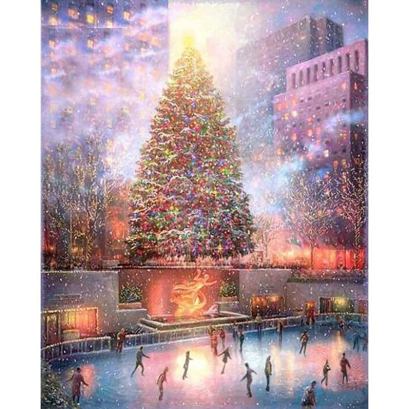 Diamond Painting Christmas Skating Floating Styles Diamond Embroidery Paint With Diamond Free Christmas Skating Animated Christmas Christmas Pictures