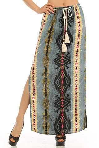 Apparel ~ Aztec Print Skirt – Gypsy Soul Collective