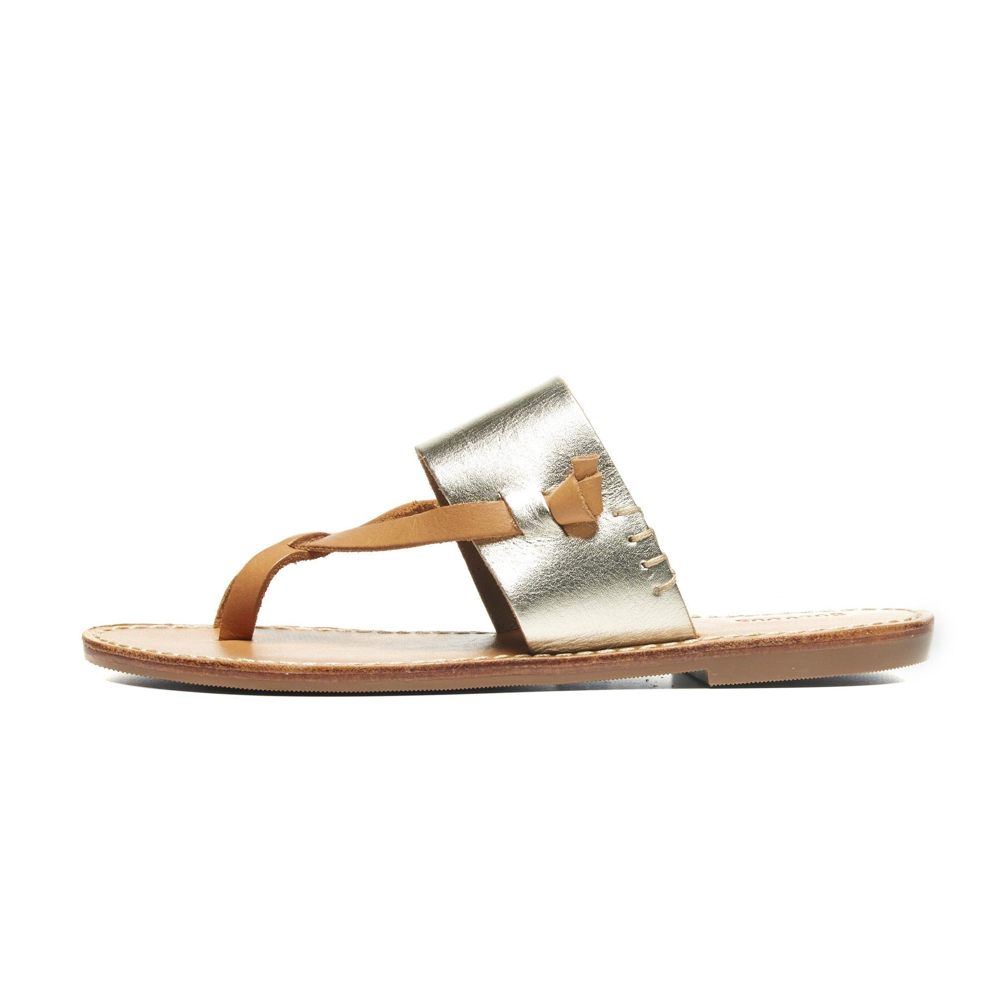 7b952febea3 Soludos Metallic Leather Slotted Thong Sandal in Platinum - Soludos  Espadrilles