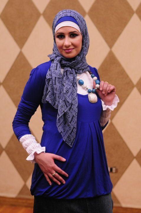 #colour #simple #hijab #blue #withblue colour with simple hijab