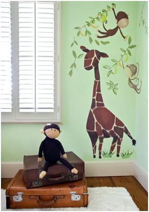 Ideal Wandsticker Wandtattoo f rs Kinderzimmer ucGiraffe u Monkeys ud von Oopsy Daisy