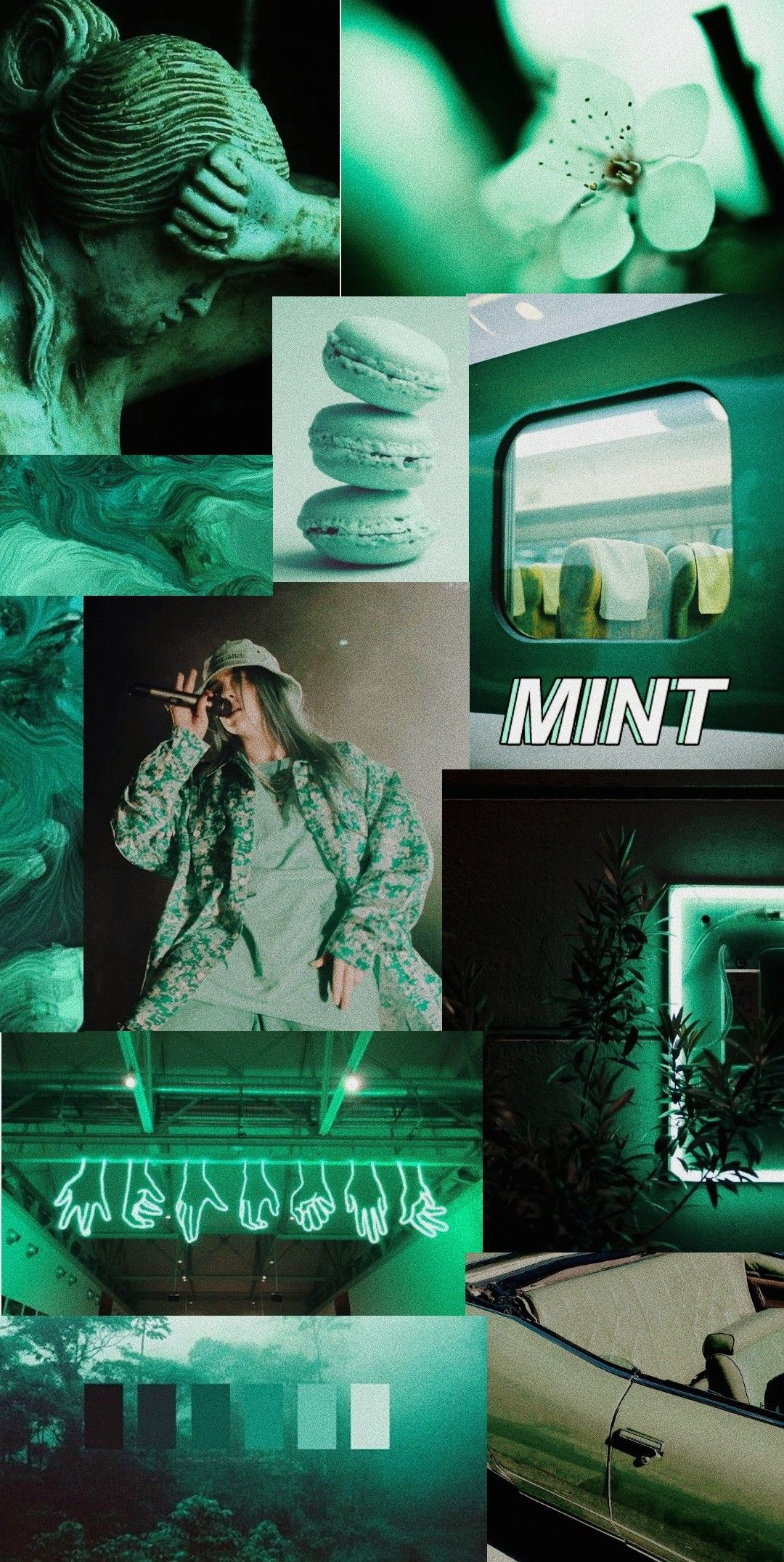 Dark mint color aesthetic wallpaper Iphone wallpaper