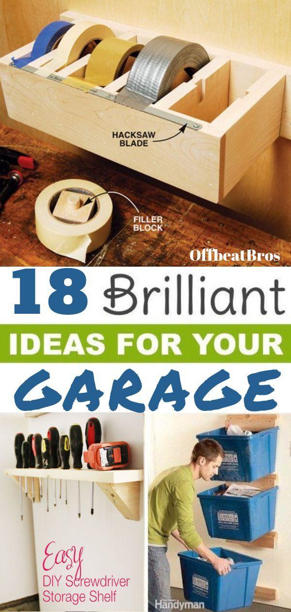 18 Genius Garage Organization Ideas You Must Know #garageideasstorage