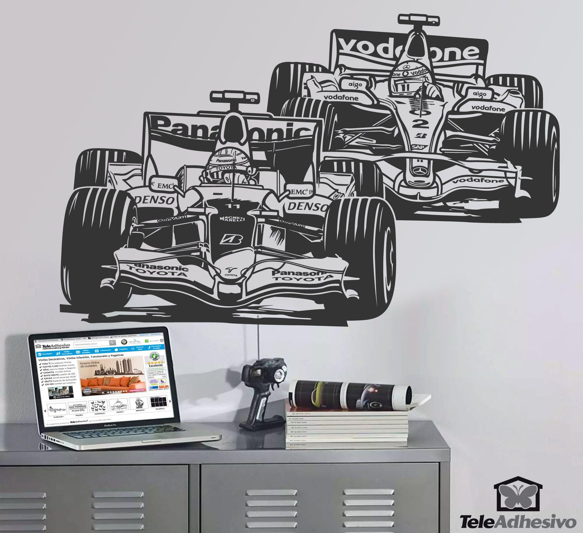 Formula 1 Grand Prix Wall Stickers Wall Stickers Wall Decals Room Decor [ 1827 x 2000 Pixel ]