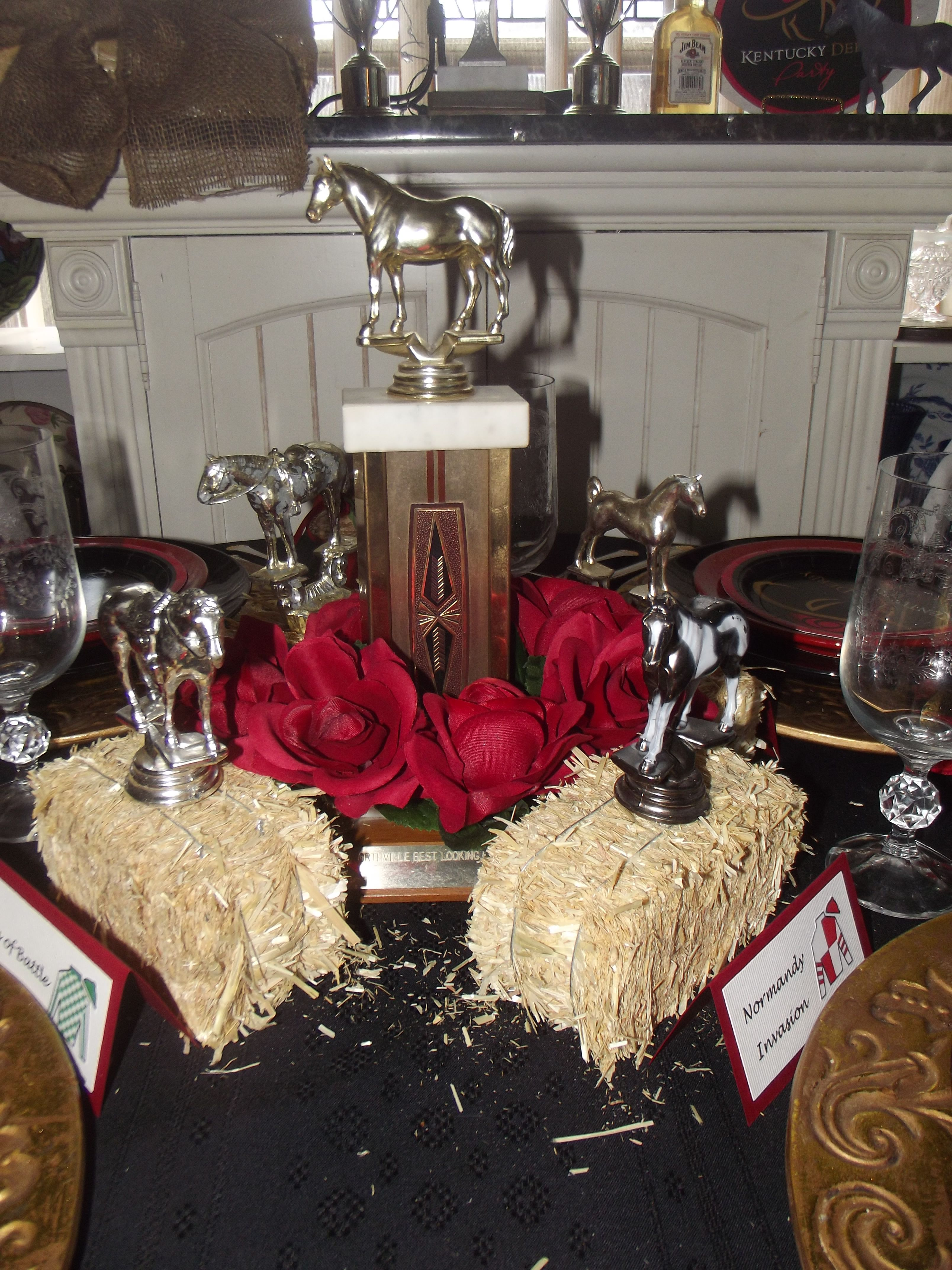 Kentucky Derby Centerpiece Made With Old Trophies From A