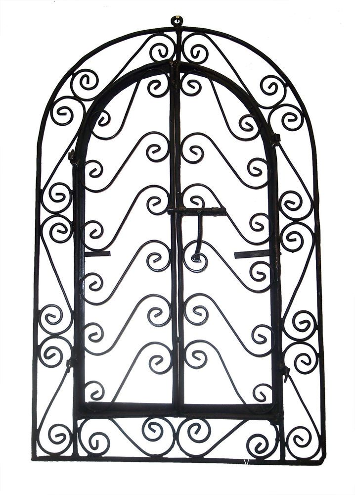 Wall Frame Wrought Iron Grille Plaque Rustic Art Moroccan Indoor Outdoor Decor