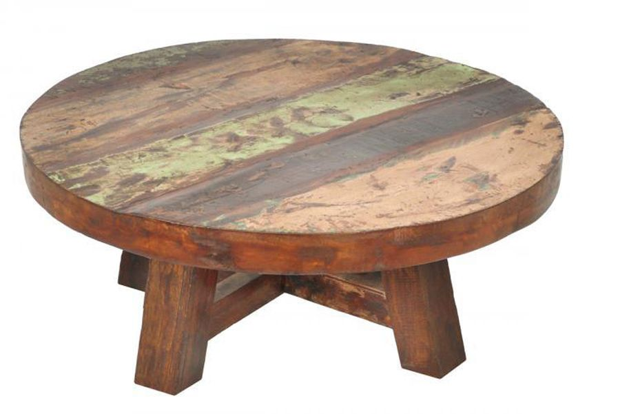 Round Rustic Coffee Table   Supercoffeecafe.com   $999   Rustic Reclaimed  Wood