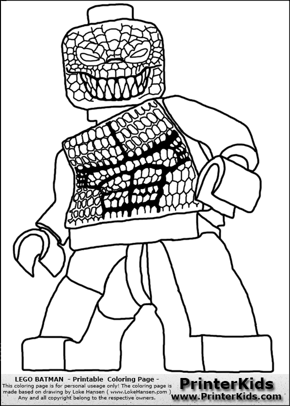 color pages for batmans villians lego lego batman killer croc printable coloring page coloring page - Coloring Pages Lego Superheroes