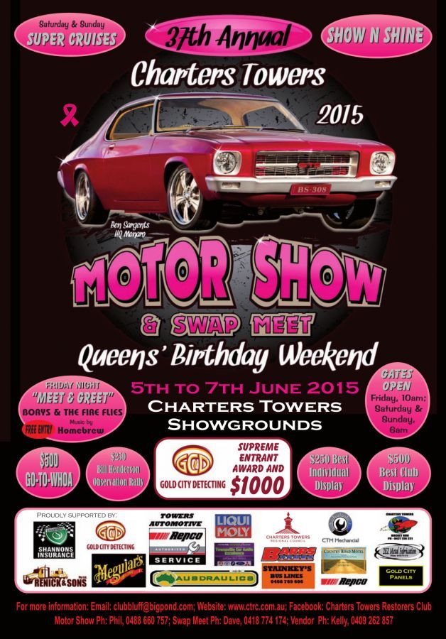 2015 Charters Towers Motor Show Poster With Images Queens