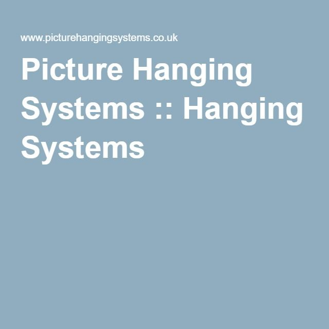 Picture Hanging Systems :: Hanging Systems
