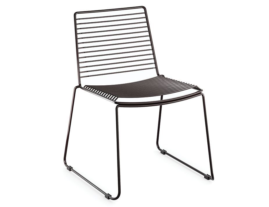velletri black indoor outdoor wire dining chair by glid