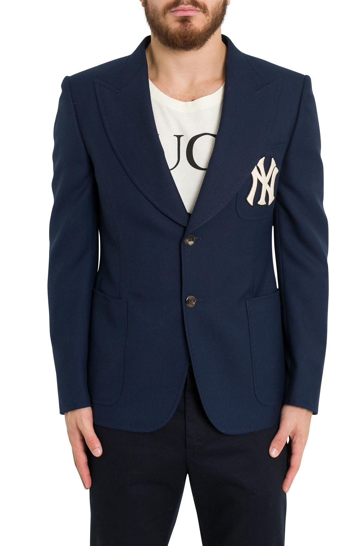 7f5a7fa3f GUCCI TWILL JACKET WITH NY YANKEES PATCH. #gucci #cloth   Gucci ...