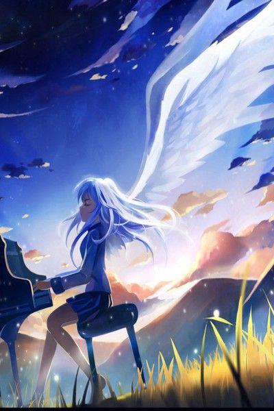 Piano Playing Anime Angel Beats Angel Beats Anime Piano Anime