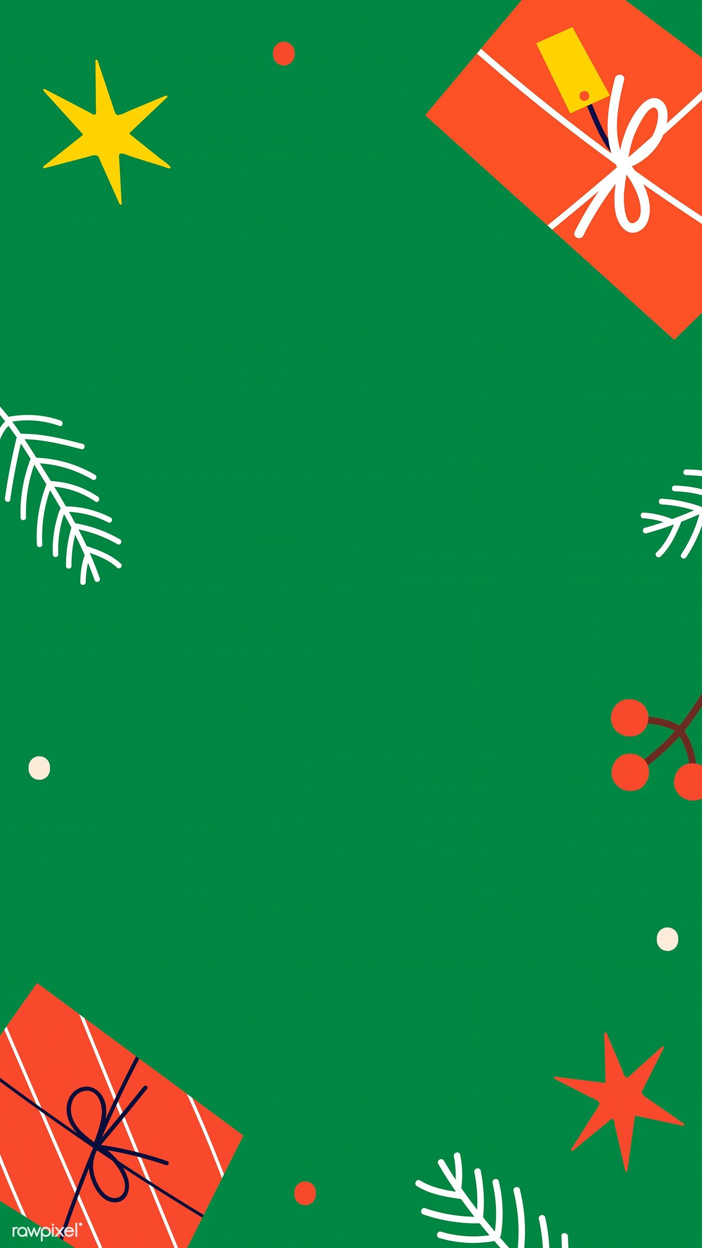 Download Premium Image Of Green Christmas Frame Mobile