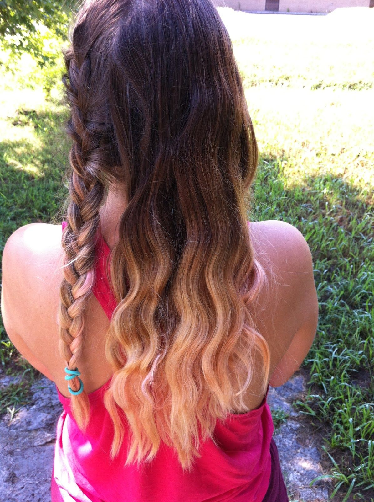 Sleep On It French Braids To Beach Waves Wavy Hair With Braid Wavy Hair Overnight French Braid Waves