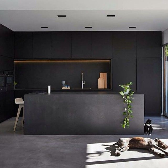 Kitchen Inspiration #darkinteriors #blackkitchen