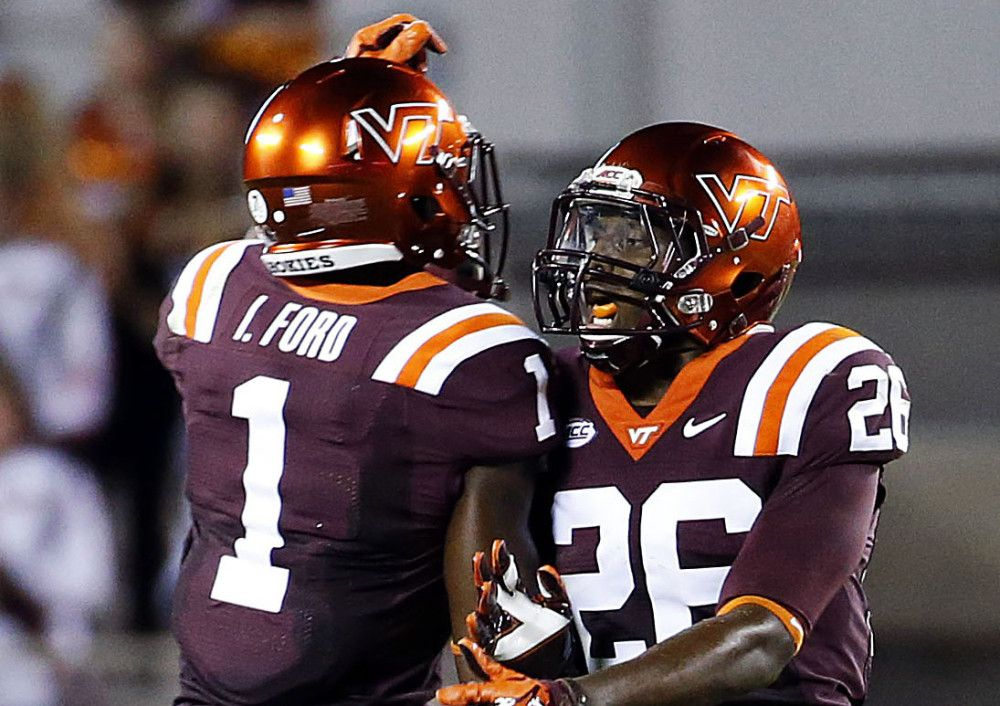 Image result for virginia tech football uniforms College