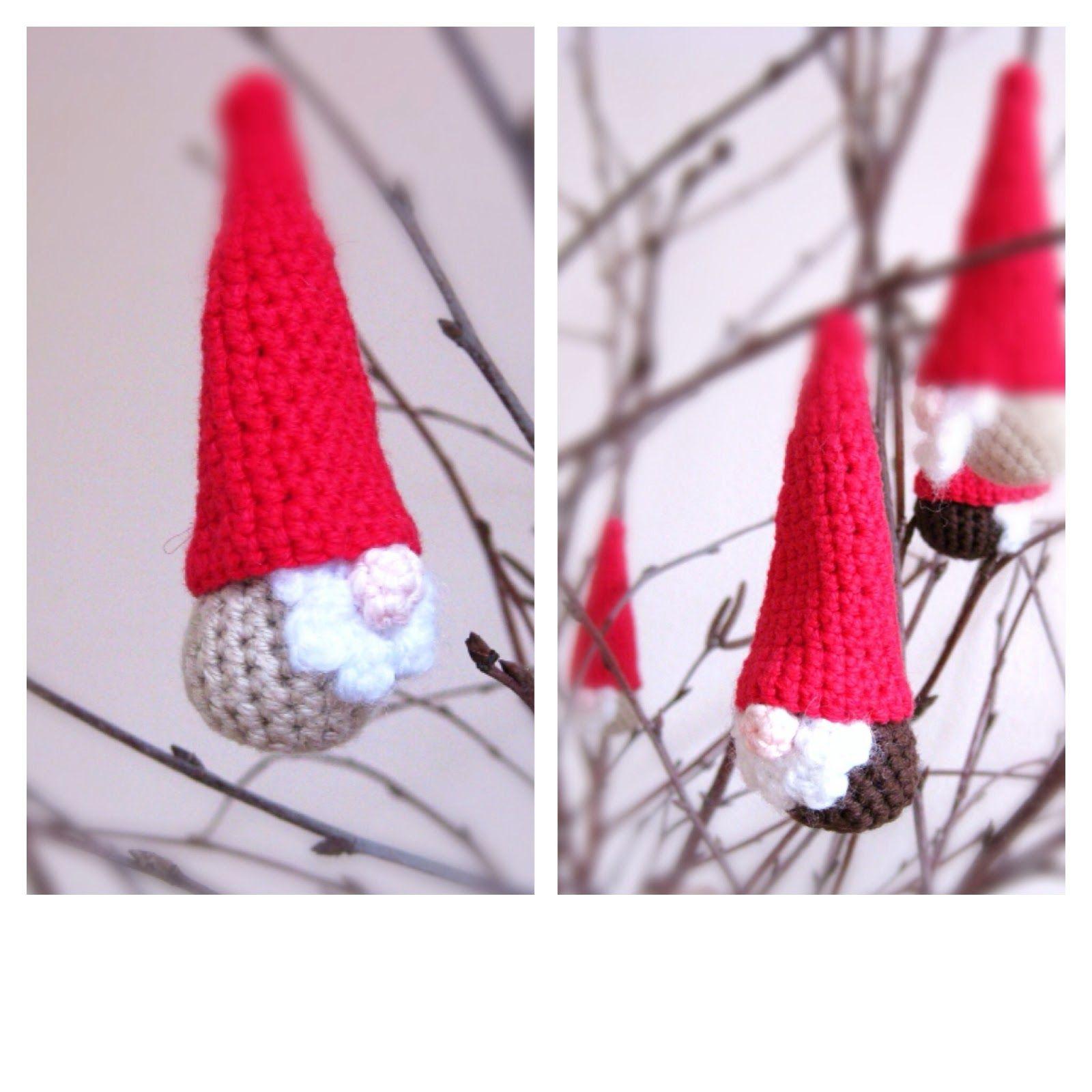 Helena Haakt: Kerstkabouter haken - free crochet gnome pattern <3 these