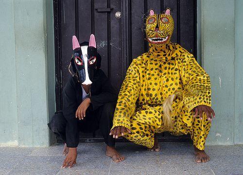 Jaguar And His Dog Mexican Folk Art Jaguar Mexican Mask