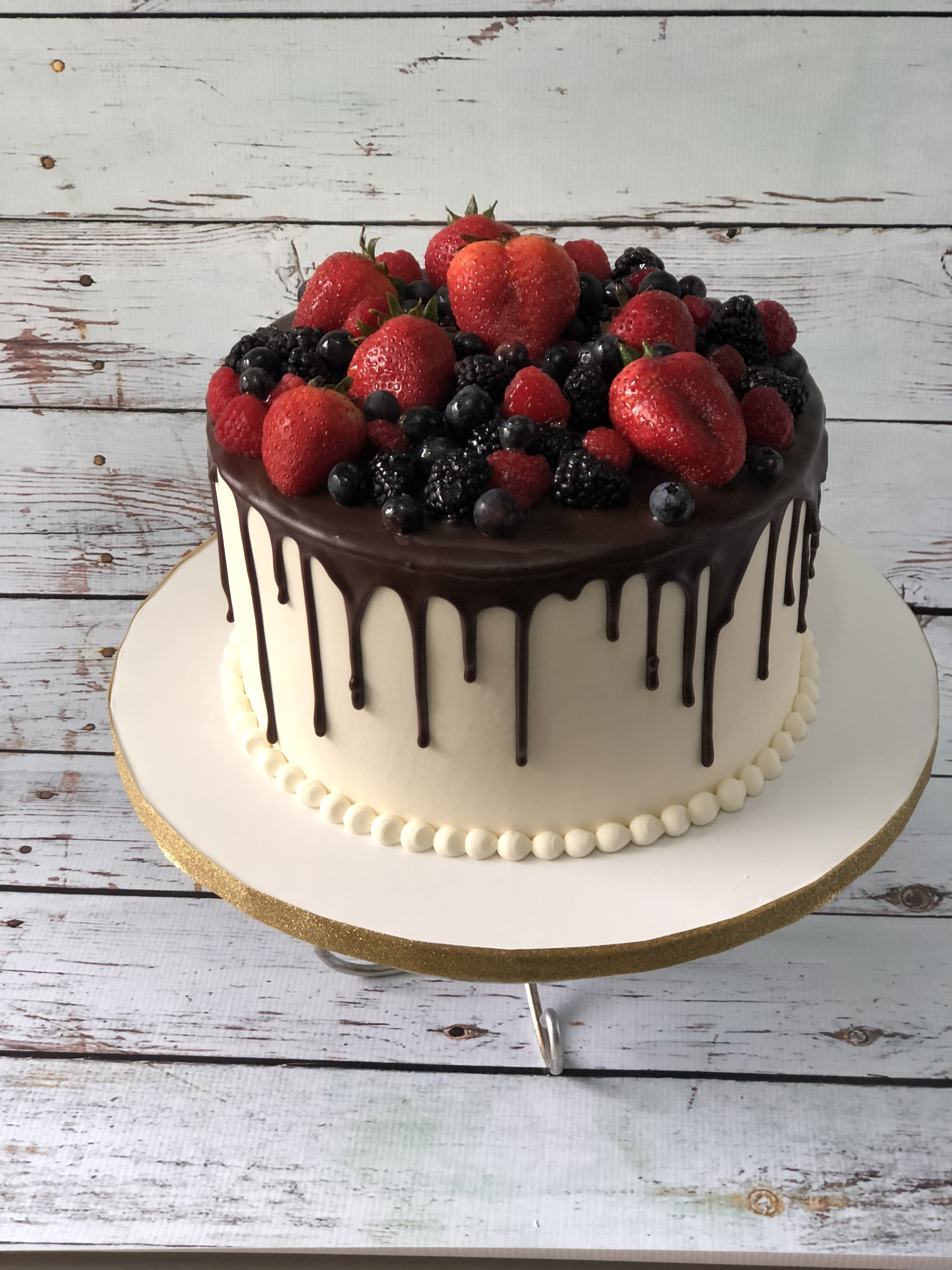 Chocolate Drip Cake Drip Cake With Fruits Buttercream Cake With