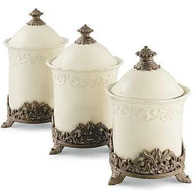 Groovy Chris Madden Corvella Set Of 3 Canisters Jcpenney Decor Home Interior And Landscaping Ologienasavecom