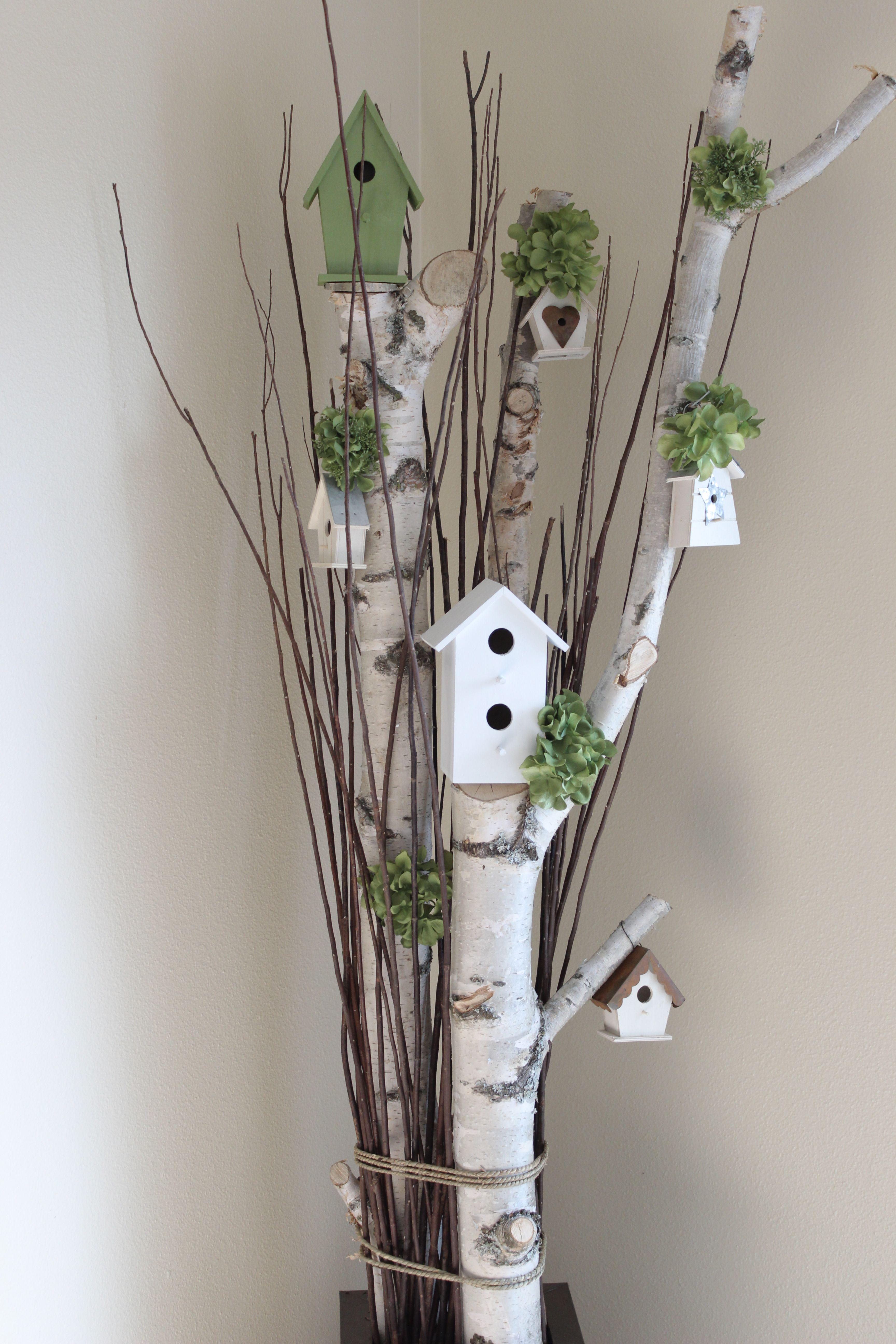 Birch Tree House Decoration Birken Deko Oster Dekor Und