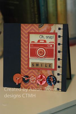 Oh Snap card with Claire paper from Booth #32