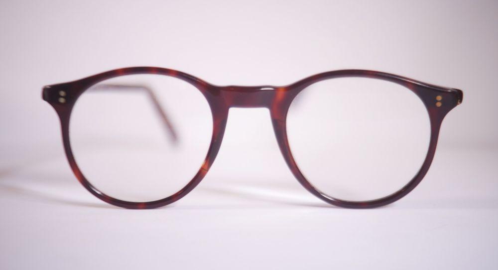 d5835c48a6 Vintage NHS round acetate eyeglasses frames tortoise brown 43-19  fashion   clothing
