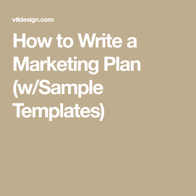 How To Write A Marketing Plan WSample Templates  Social Media