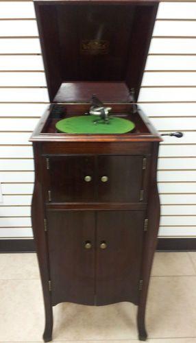 1916 Victrola Floor Model Record Player Phonograph VV x Mahogany ...