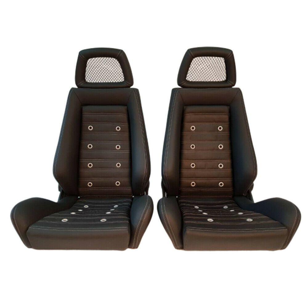 2 Jdm RECARO LX Specialist Leather Reclinable NET HEADREST