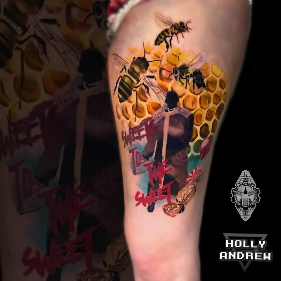 Holly Finished This Candyman Themed Tattoo Last Week Tattoos Horror Tattoo Inspirational Tattoos