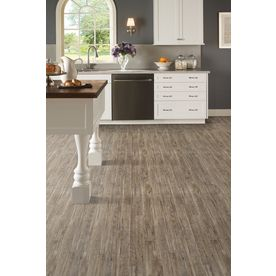 Stainmaster Softstep Plus 12 Ft W X Cut To Length Carbon Wood Look Low Gloss Finish Sheet Vinyl At Lowes