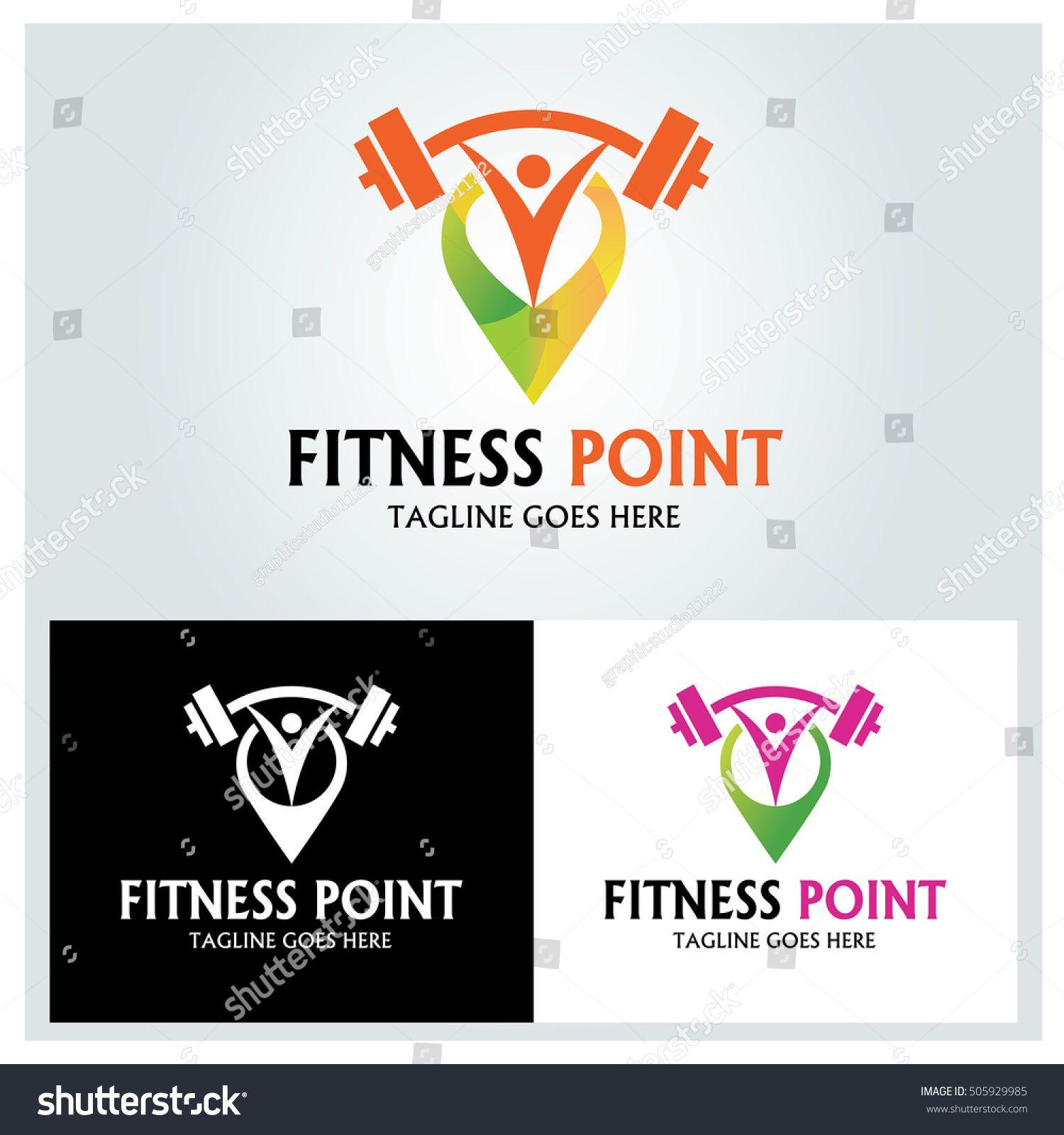 Fitness Point Logo Design Template Gym Point Logo Design Concept Vector Illustration Vector Free Fitness
