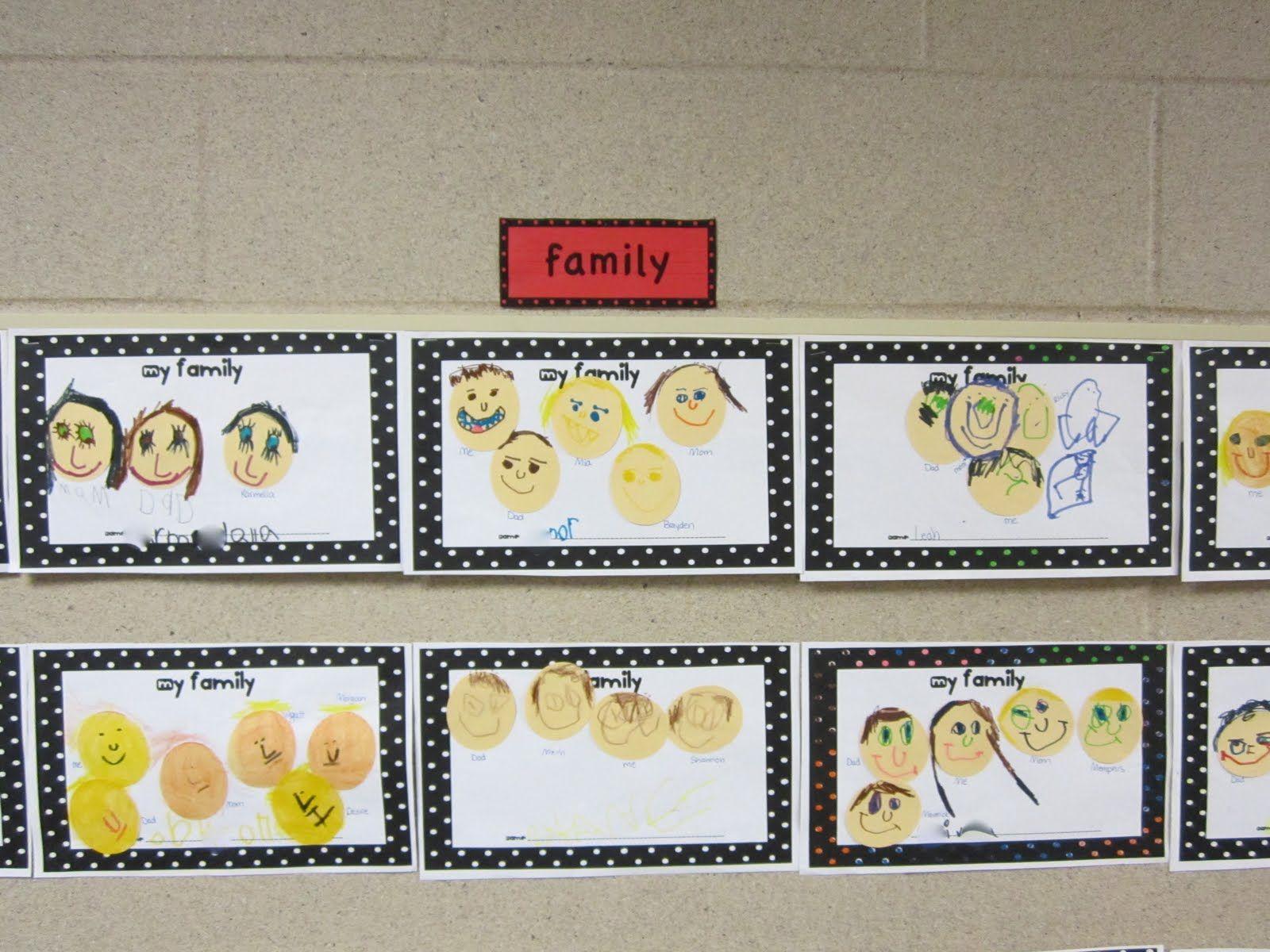 Kindergarten Family Portraits Too Cute
