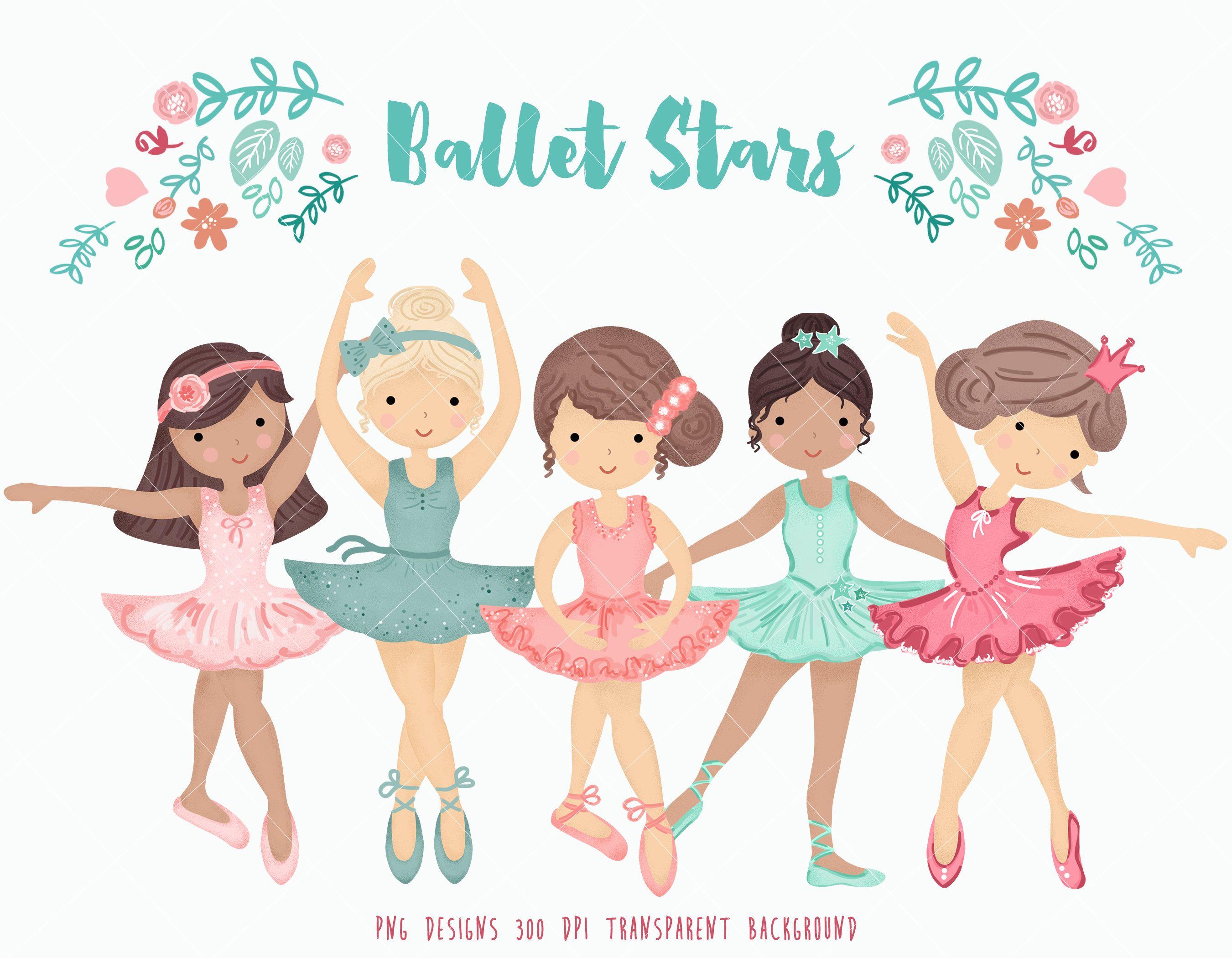 ballerina clipart little ballerinas clip art ballet graphic dancing girl ballet illustration prima ballerina dancer hand drawn art [ 2701 x 2100 Pixel ]