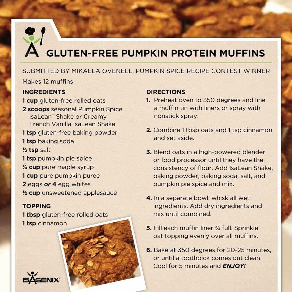 gluten free pumpkin protein muffins | Pumpkin protein ...