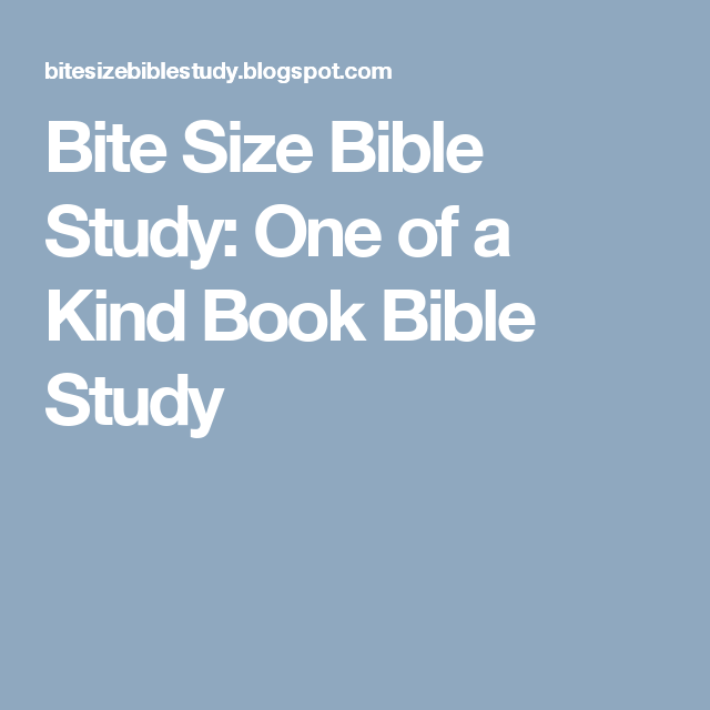 Bite Size Bible Study: One of a Kind Book Bible Study
