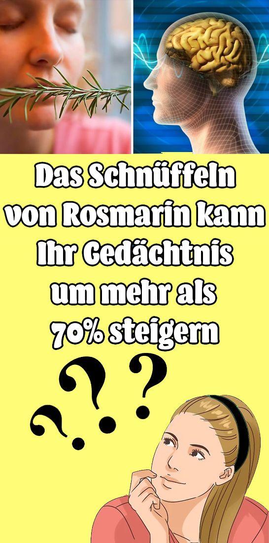 Das Schnüffeln von Rosmarin kann Ihr Gedächtnis um mehr als 70% steigern #hairhealth