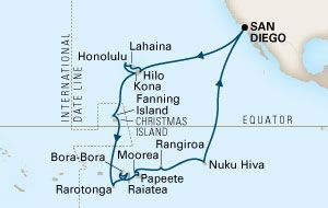 H 4 33 Day Hawaii Tahiti Marquesas Itinerary Map Refer To Cruise Details Page For List Of Port Na Last Minute Cruises How To Book A Cruise Discount Cruises