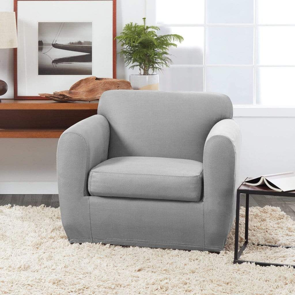 Ultimate Stretch Leather Chair Slipcover Form Fit