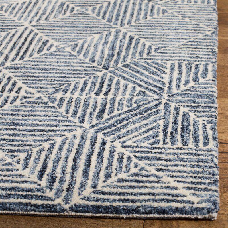 Joseph Hand Tufted Wool Light Blue Gray Area Rug Reviews Birch Lane Blue Gray Area Rug Grey Area Rug Rugs On Carpet