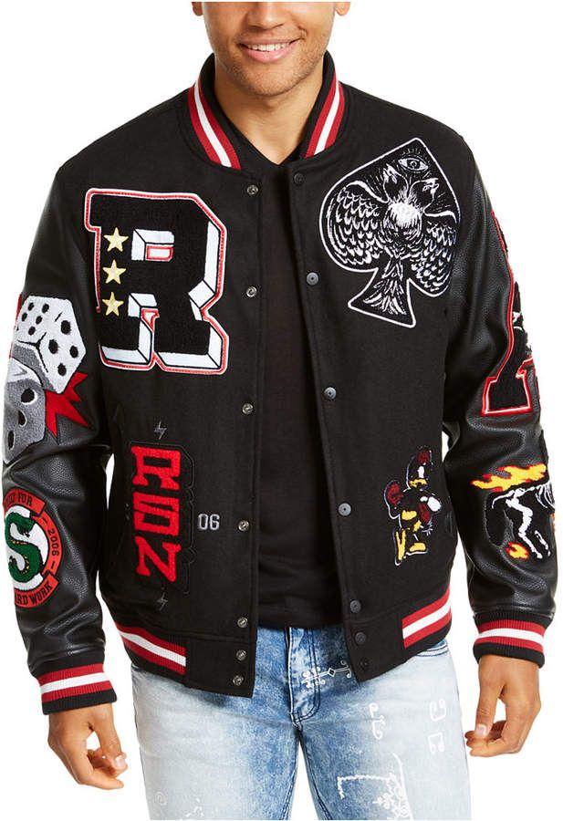 Reason Men's Spoiler Varsity Jacket & Reviews - Coats & Jackets - Men - Macy's