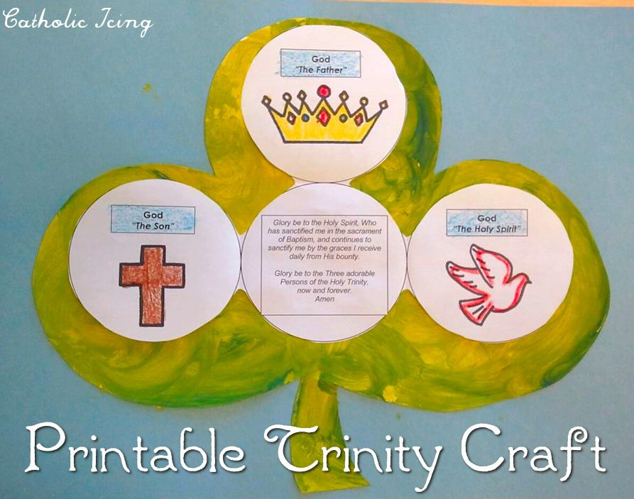 Printable trinity craft for kids for teaching the holy for Holy spirit crafts for sunday school